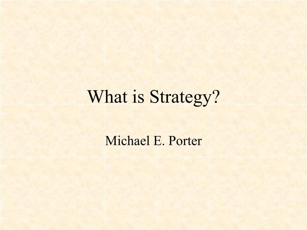 what is strategy l.