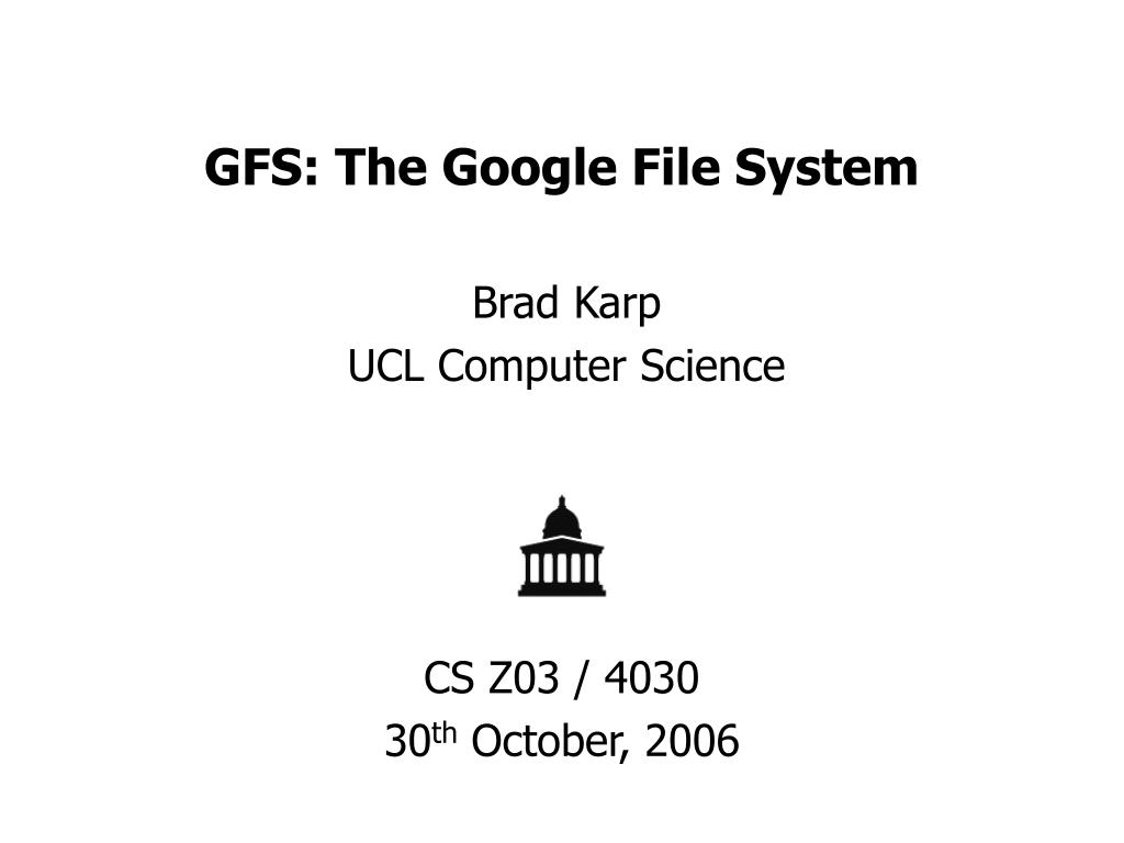gfs the google file system l.