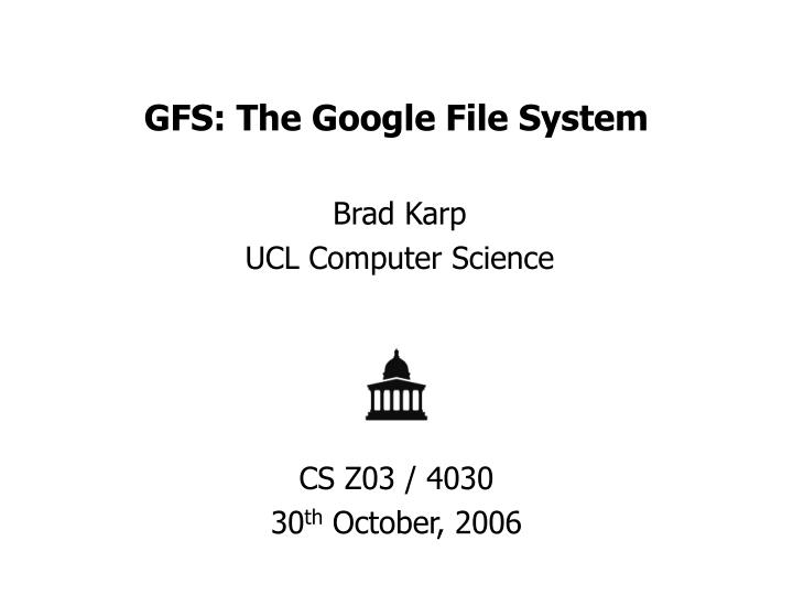 gfs the google file system n.