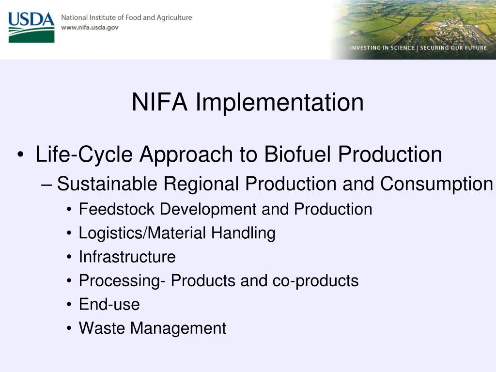 NIFA Implementation