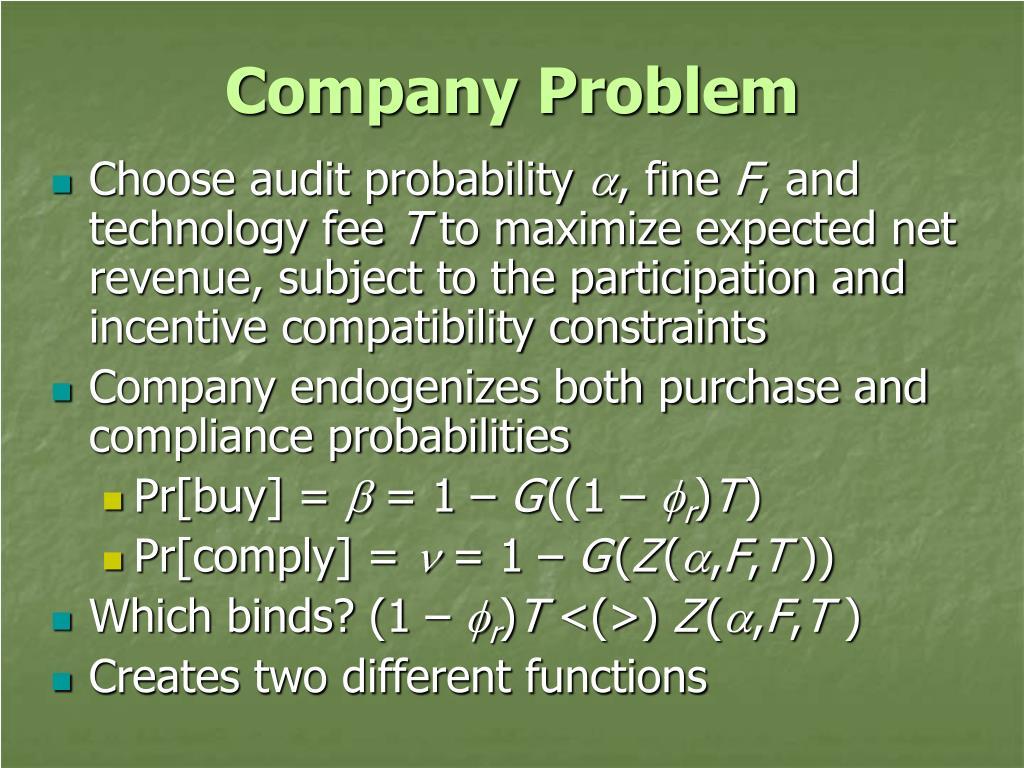 Company Problem
