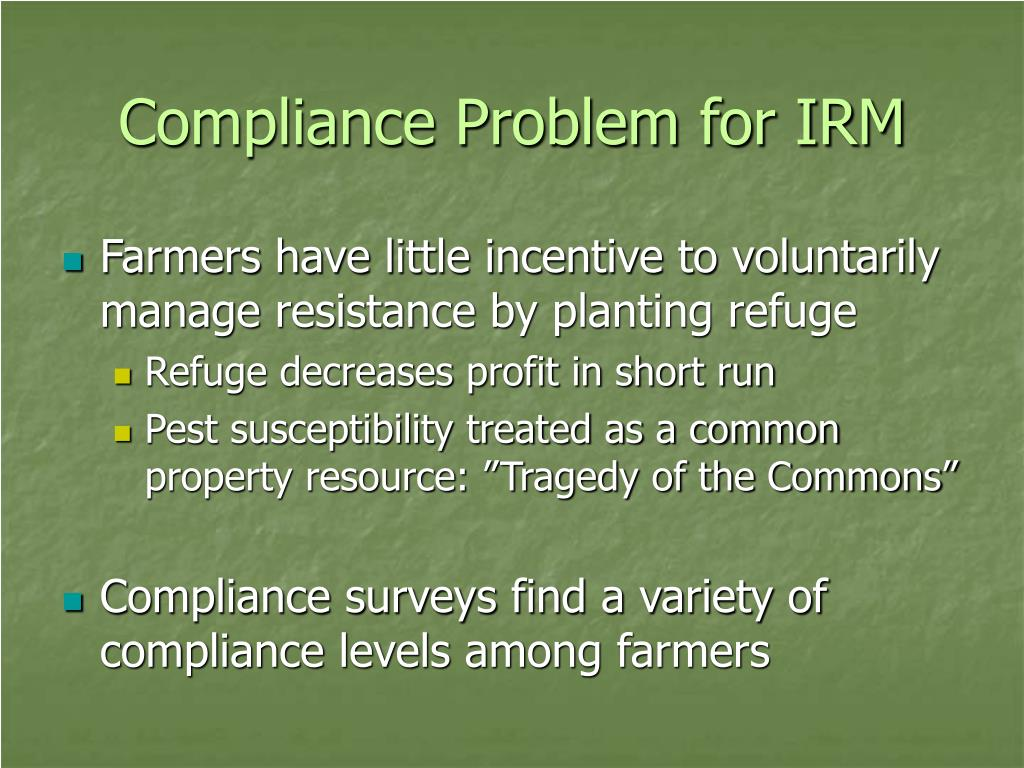 Compliance Problem for IRM