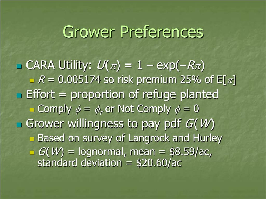 Grower Preferences