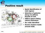 positive result