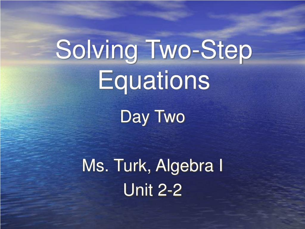 solving two step equations l.