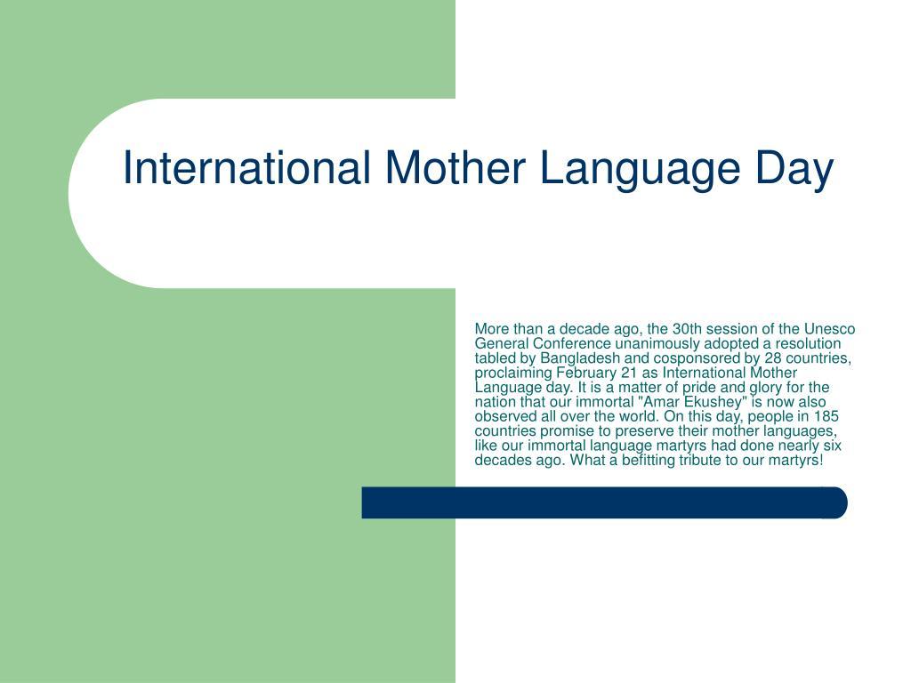 international mother language day l.