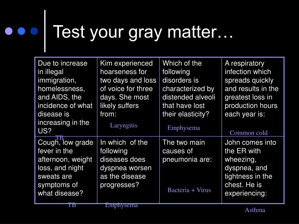 Test your gray matter…