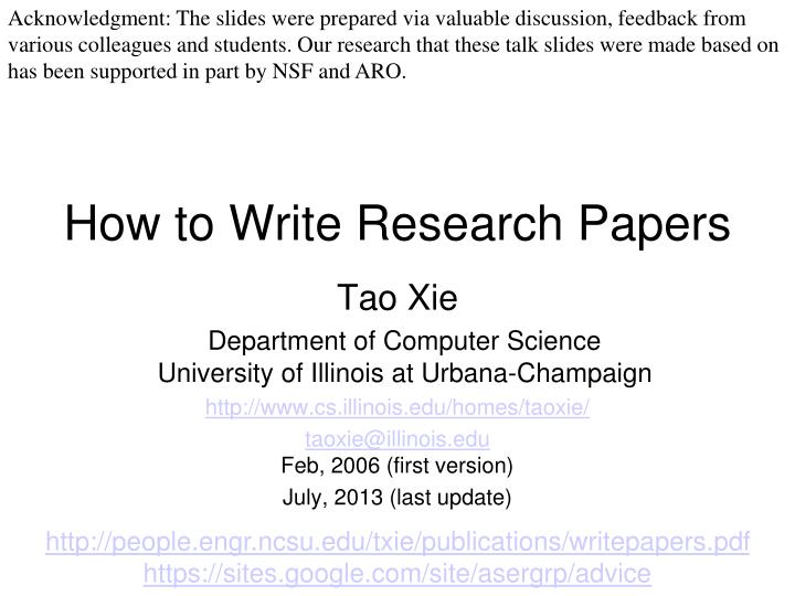 various models of writing a research paper Writing a research paper is an essential aspect of academics and should not be avoided on account of one's anxiety in fact, the process of writing a research.