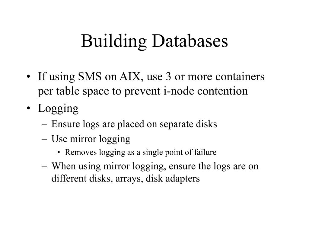 Building Databases