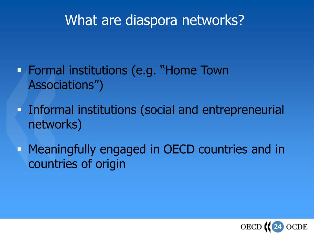 What are diaspora networks?