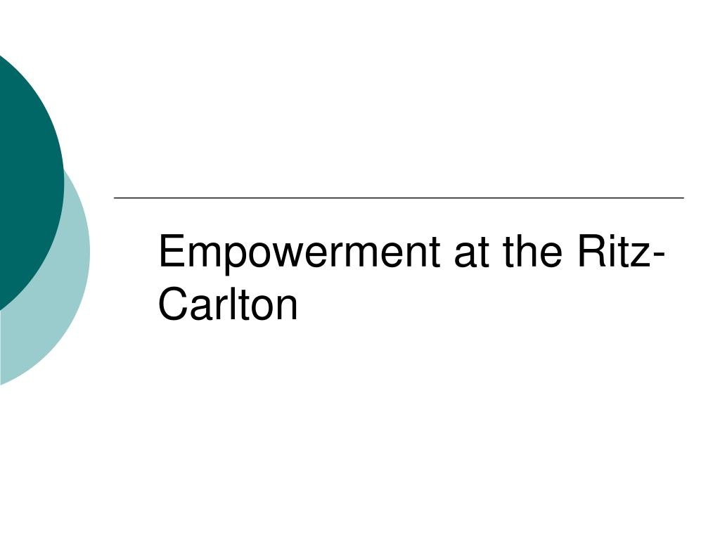 empowerment at the ritz carlton l.
