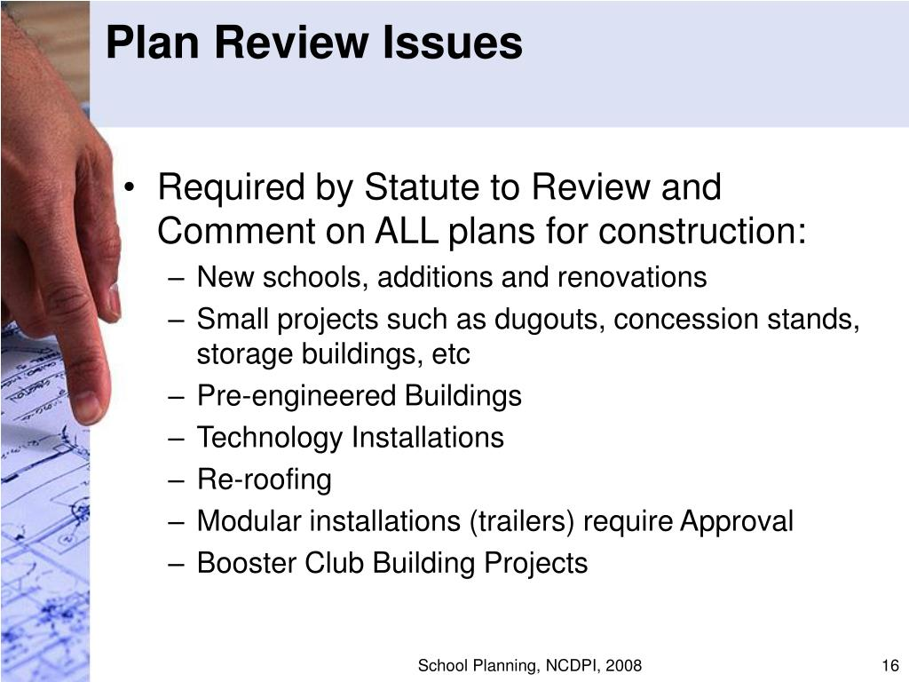 Plan Review Issues
