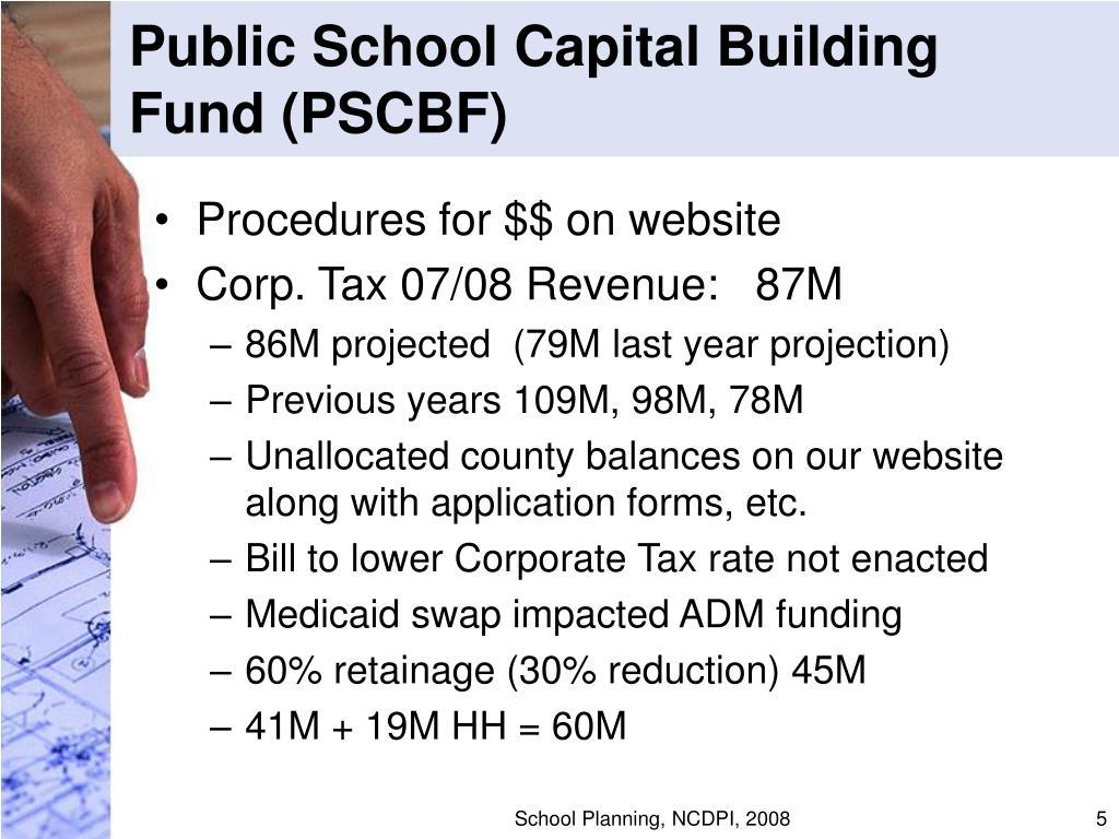 Public School Capital Building Fund (PSCBF)