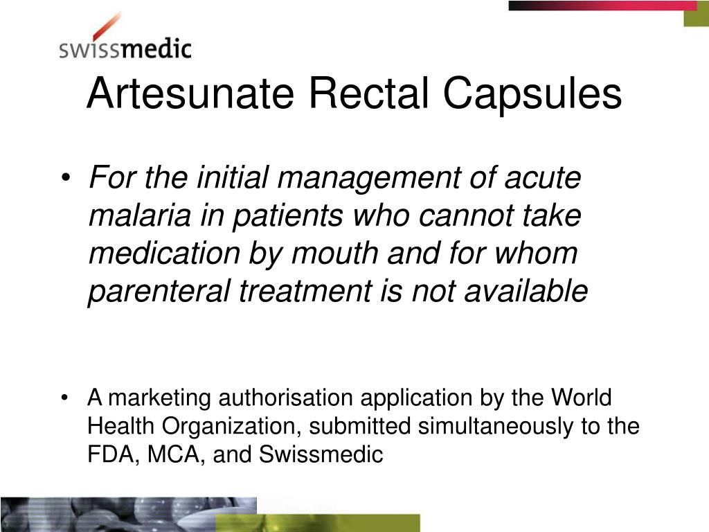artesunate rectal capsules l.