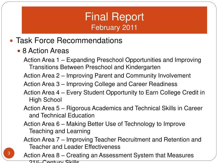 Final report february 2011