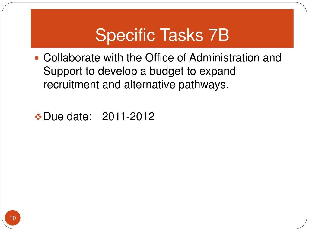Specific Tasks 7B
