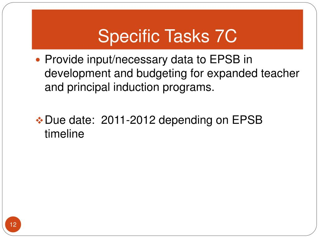 Specific Tasks 7C