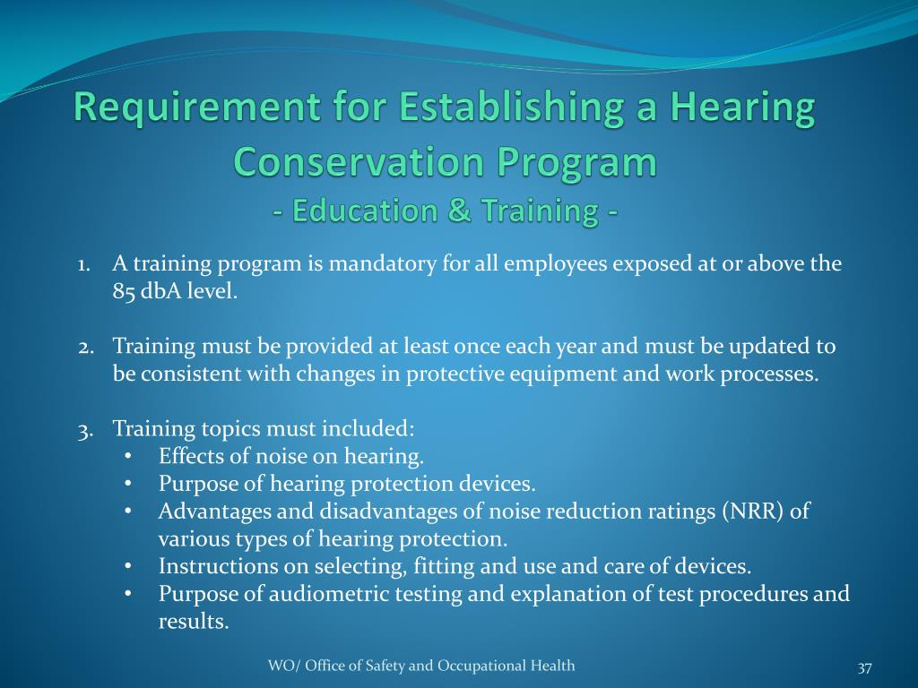 ppt - a refresher u2026 hearing conservation program powerpoint presentation