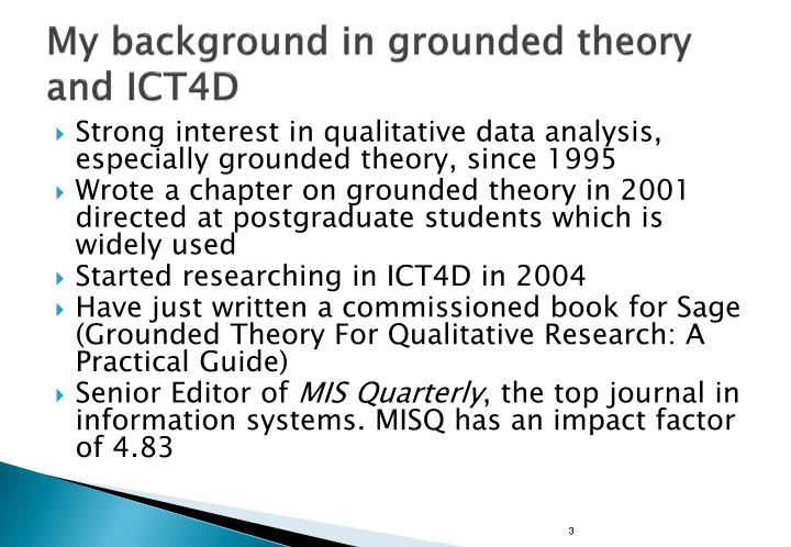 bachelor thesis grounded theory Translating and doing grounded theory methodology intercultural mediation as an analytic resource.