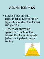 acute high risk