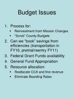 budget issues