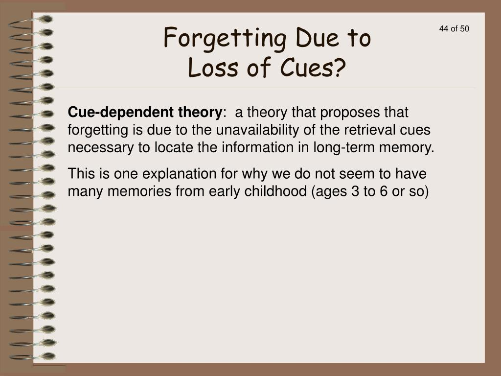 Forgetting Due to