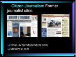 citizen journalism former journalist sites