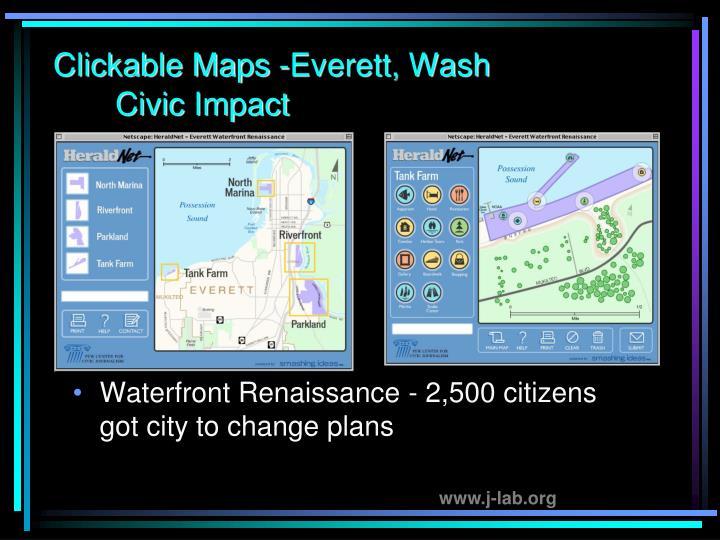 Clickable Maps -Everett, Wash Civic Impact