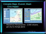 clickable maps everett wash civic impact