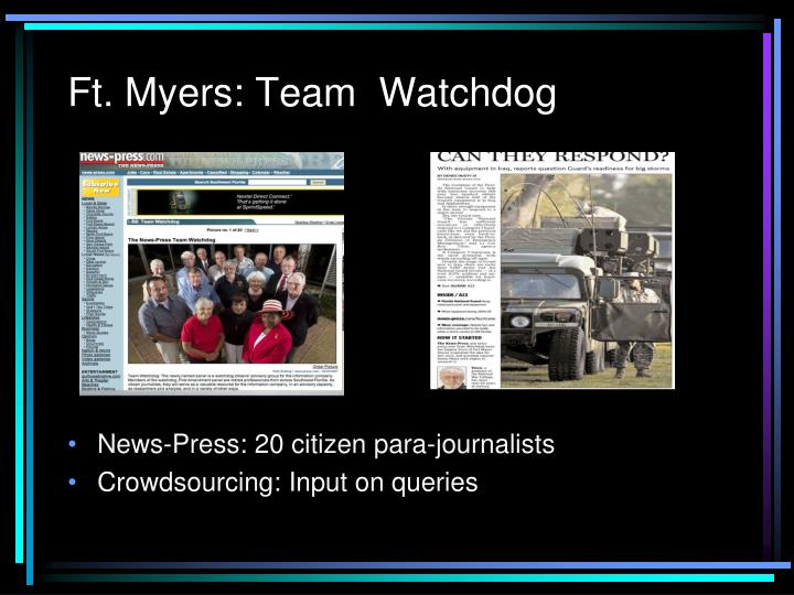 Ft. Myers: Team  Watchdog
