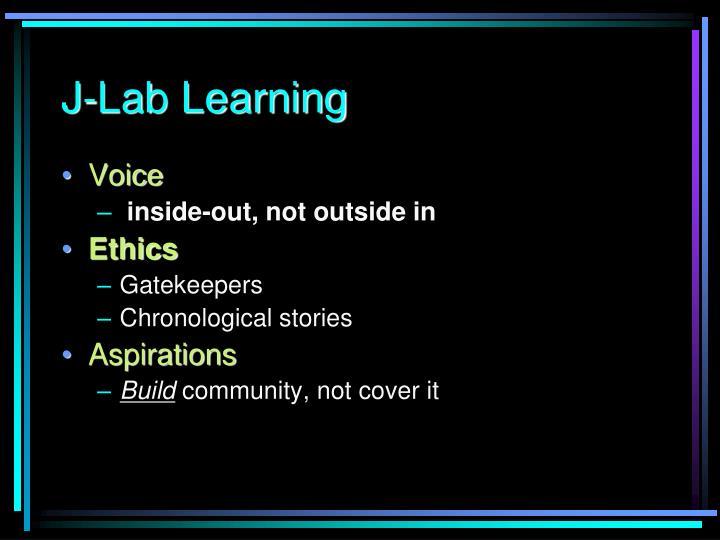 J-Lab Learning