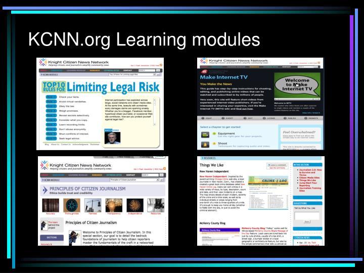 KCNN.org Learning modules