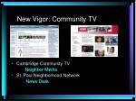 new vigor community tv