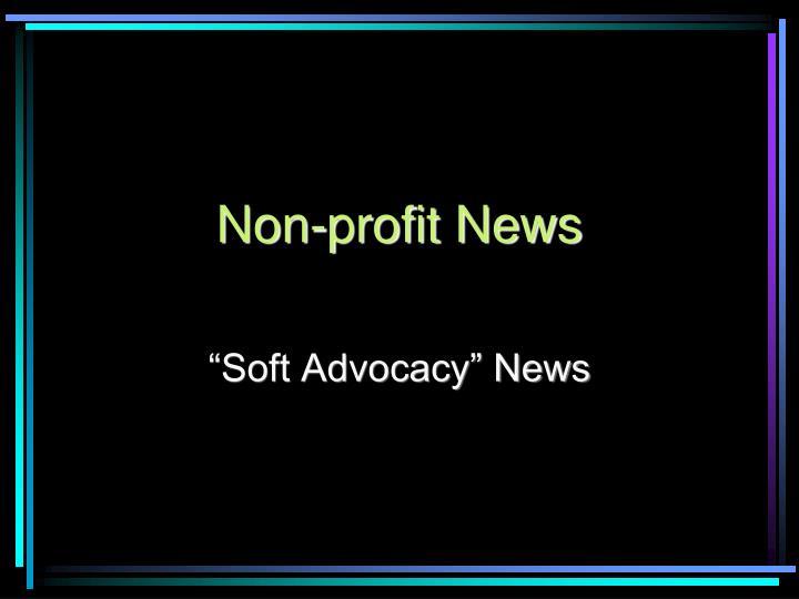Non-profit News