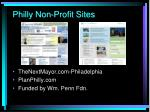 philly non profit sites