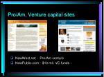 pro am venture capital sites