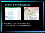 search find exercises
