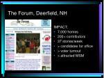 the forum deerfield nh