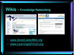 wikis knowledge networking