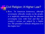 civil religion a higher law