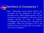 definitions of conscience 1