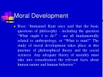 moral development37