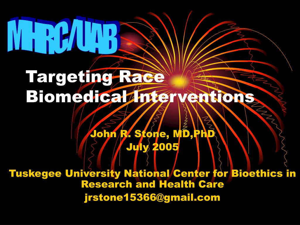 targeting race biomedical interventions l.