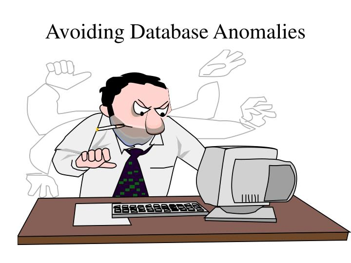 avoiding database anomalies n.