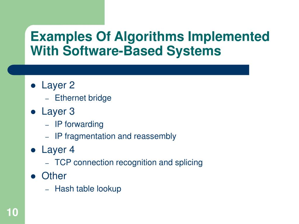 Examples Of Algorithms Implemented
