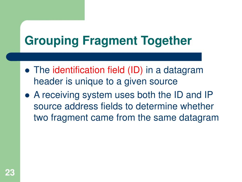 Grouping Fragment Together