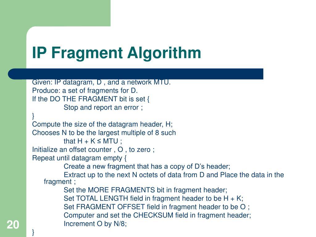 IP Fragment Algorithm