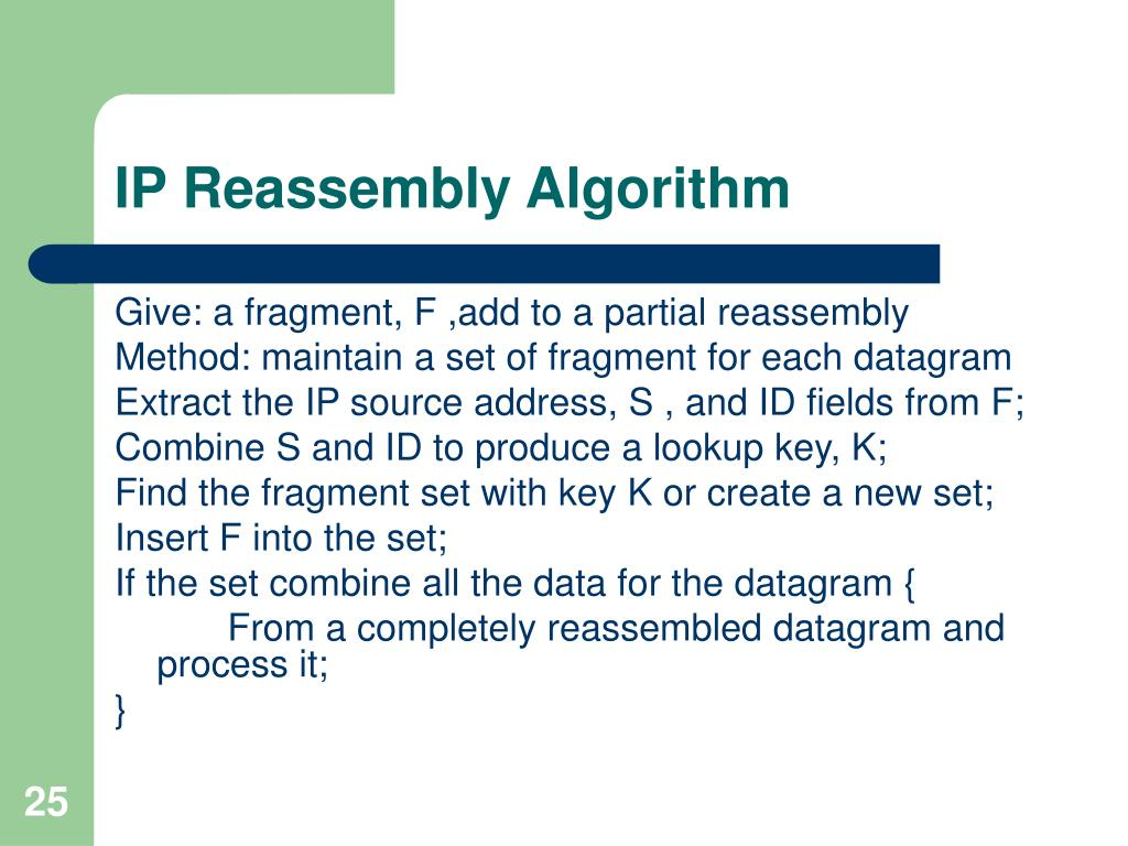 IP Reassembly Algorithm