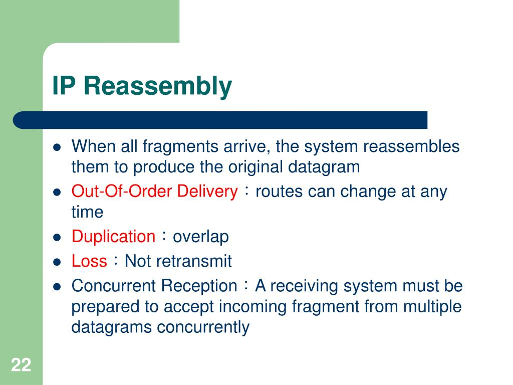 IP Reassembly