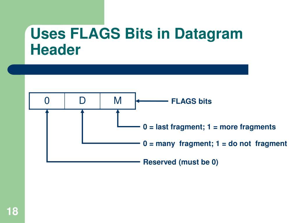 Uses FLAGS Bits in Datagram Header